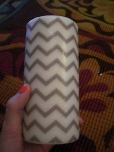 Chevron Candle