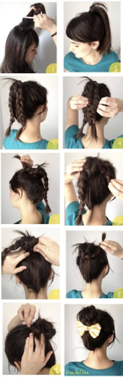 High Braided Bun
