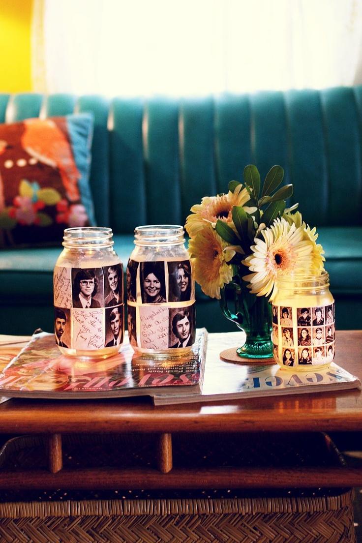 Photo Mason Jar Candle Holder