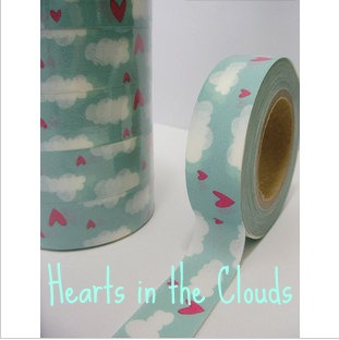 Hearts in the Clouds Washi Tape