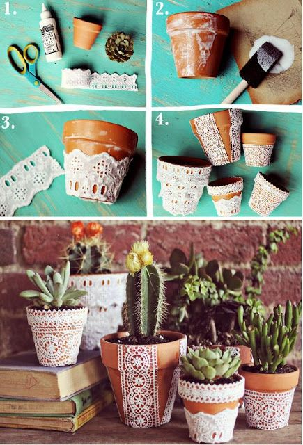 Lace Flower Pot