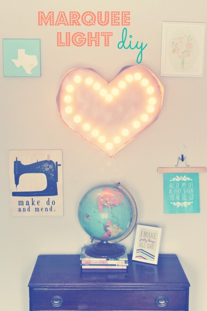 DIY Marquee Light Home And Heart DIY