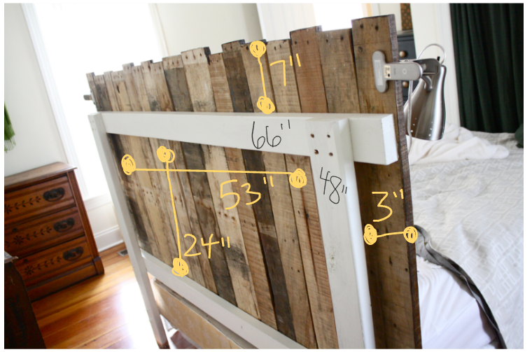 Pallet Head Board Home And Heart Diy