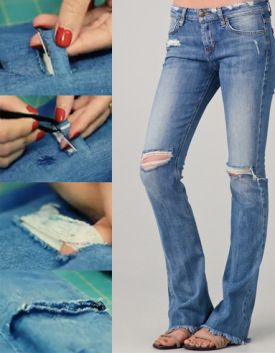 distressed jeans diy