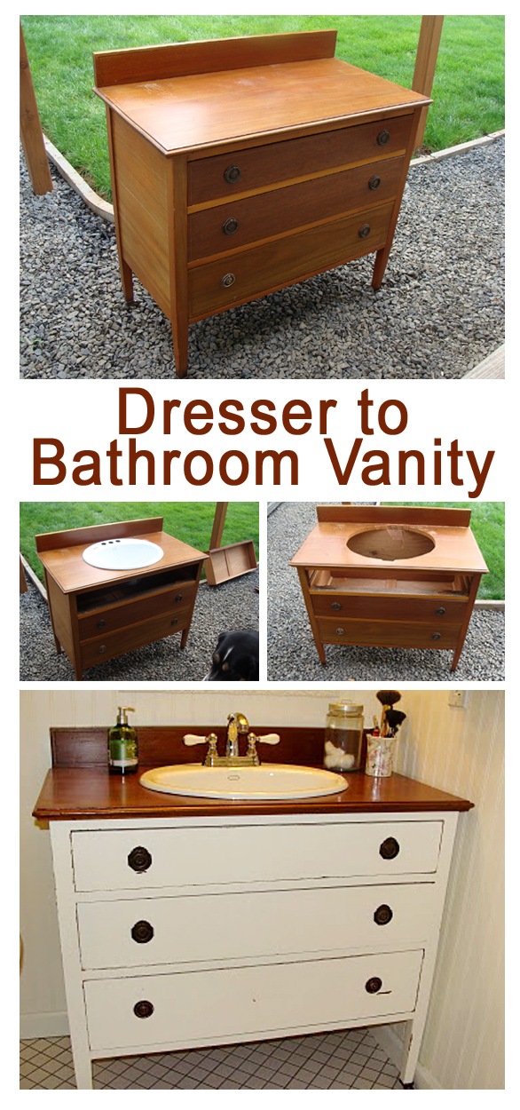 Building A Bathroom Vanity From A Dresser