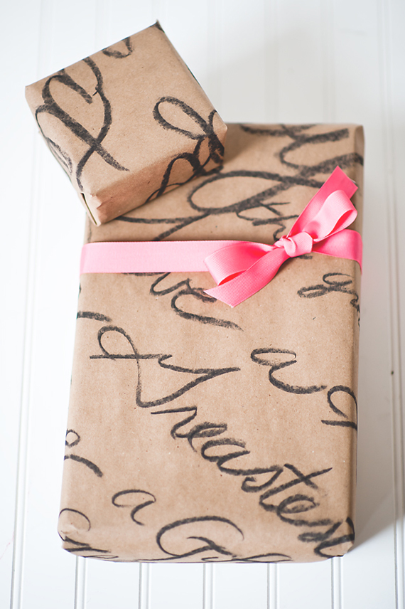 DIY Love Note Wrapping