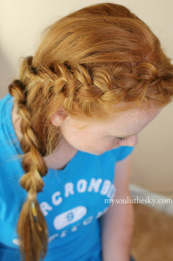 Dutch Head Braid with Side Lace Braid