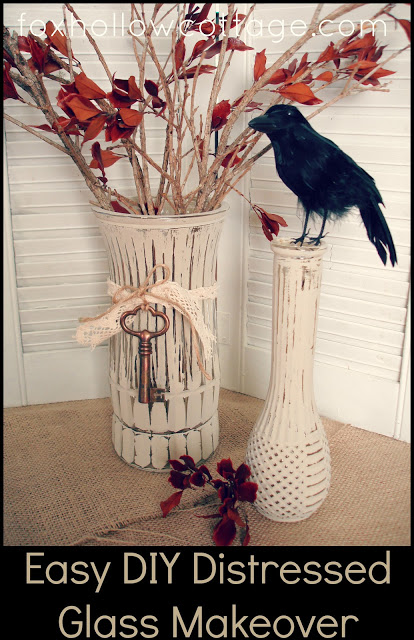 DIY Distressed Vase