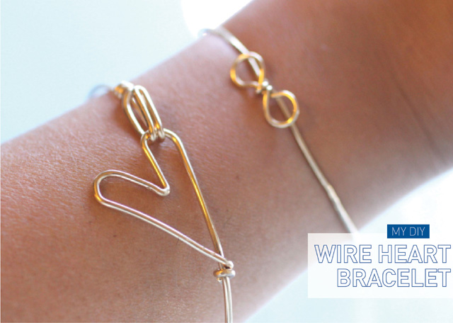 DIY Wire Heart Bracelet