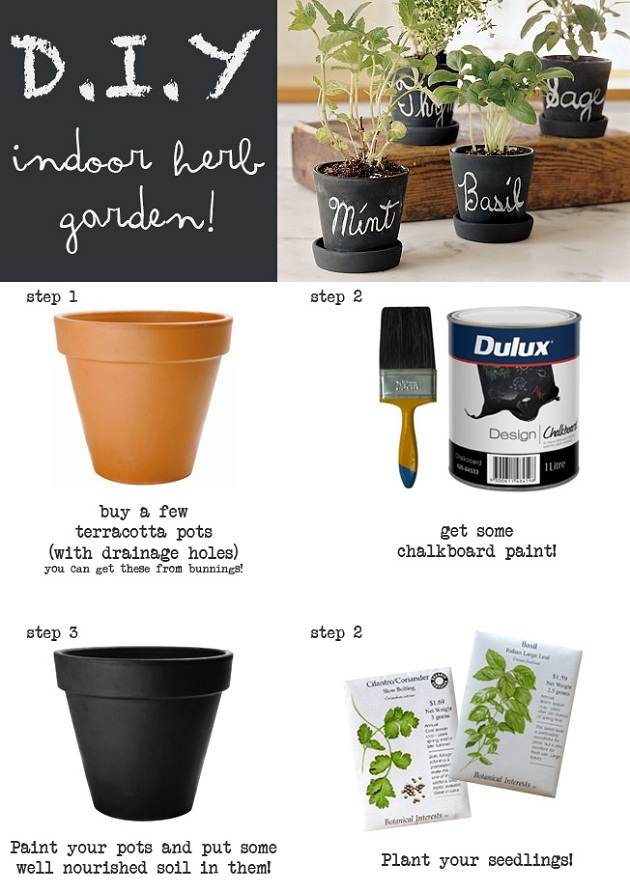 Diy Indoor Herb Garden Home And Heart Diy