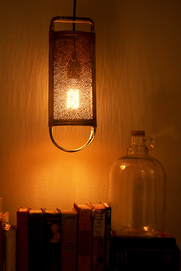DIY Cheese Grater Lantern