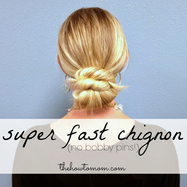 Easy Chignon-No Pins Needed