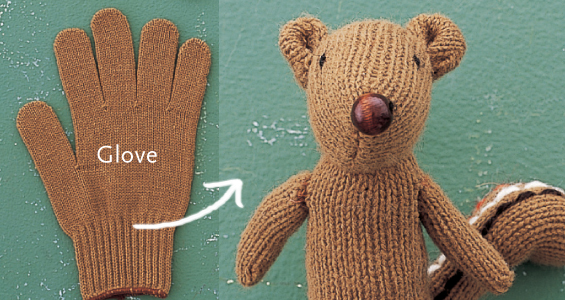 DIY Glove Squirrel