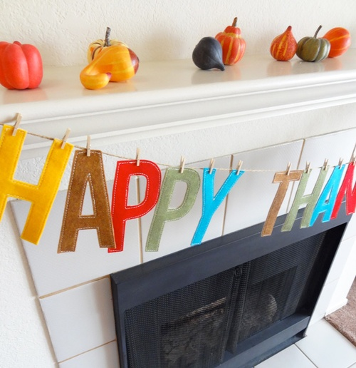 happy thanksgiving garland