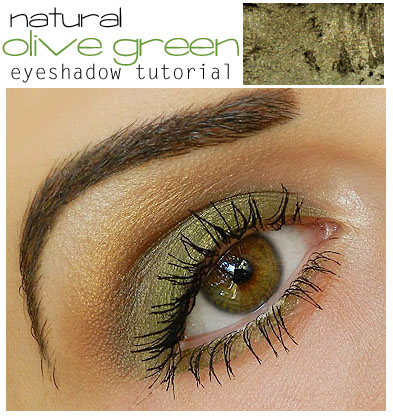 Natural Olive Green Eyeshadow Tutorial