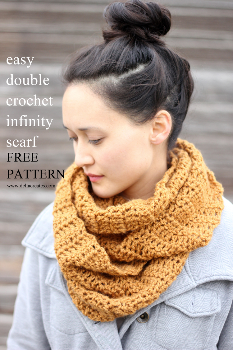 Crocheting Infinity Scarf For Beginners : Easy DIY Double Crochet Infinity Scarf! Home and Heart DIY