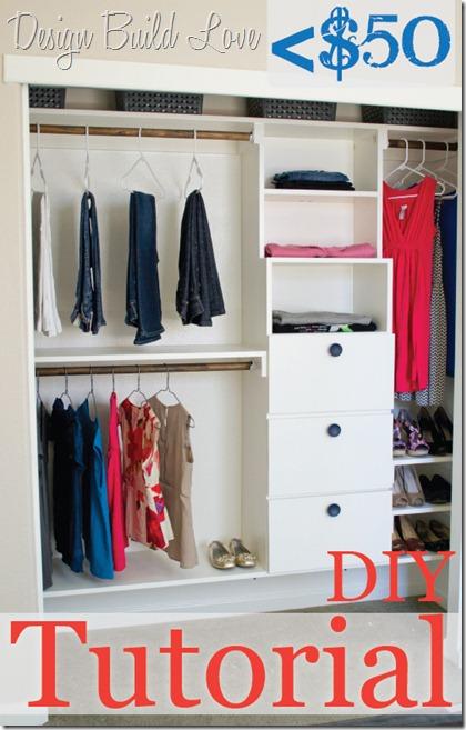 DIY Closet Tutorail