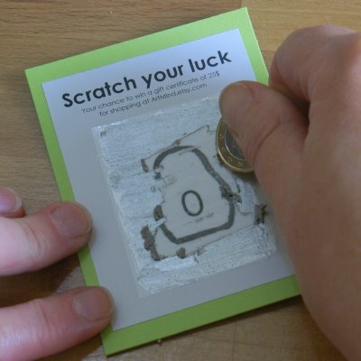 DIY Scratch Lottery Tickets