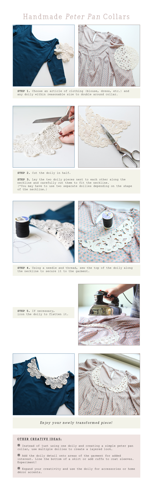 DIY Lace (Peter Pan) Collar