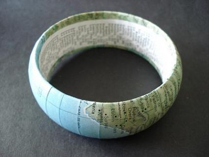 DIY Vintage Map Bangle