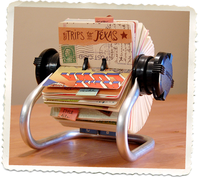 DIY Memories Rolodex