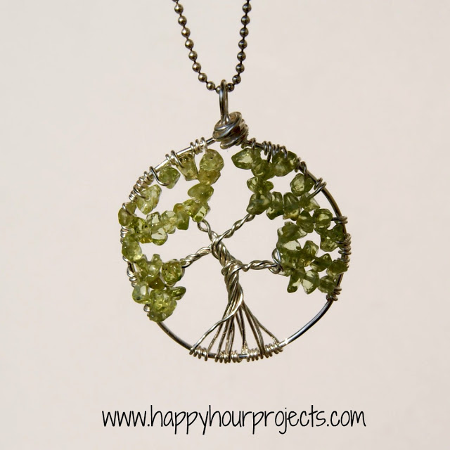 DIY Wire Wrapped Tree Necklace