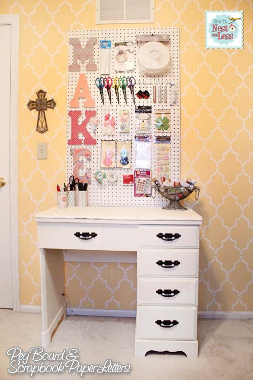 DIY Craft Room Peg Board