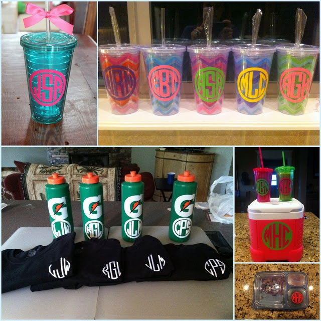Diy monogrammed tumbler home and heart diy for Diy monogram gifts