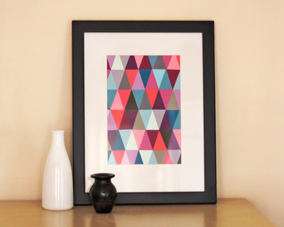 DIY Paint Chip Art