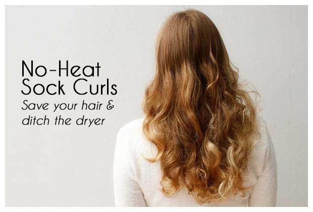 No-Heat Sock Curls