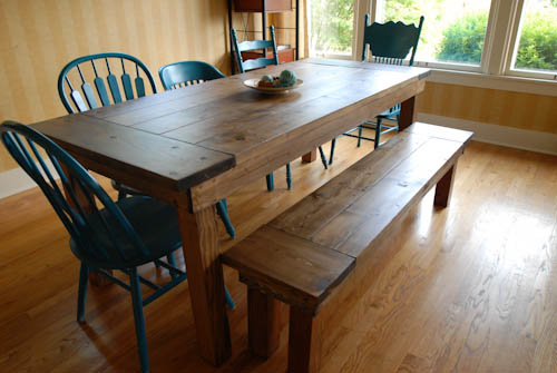 diy bench for a farmhouse table home and heart diy