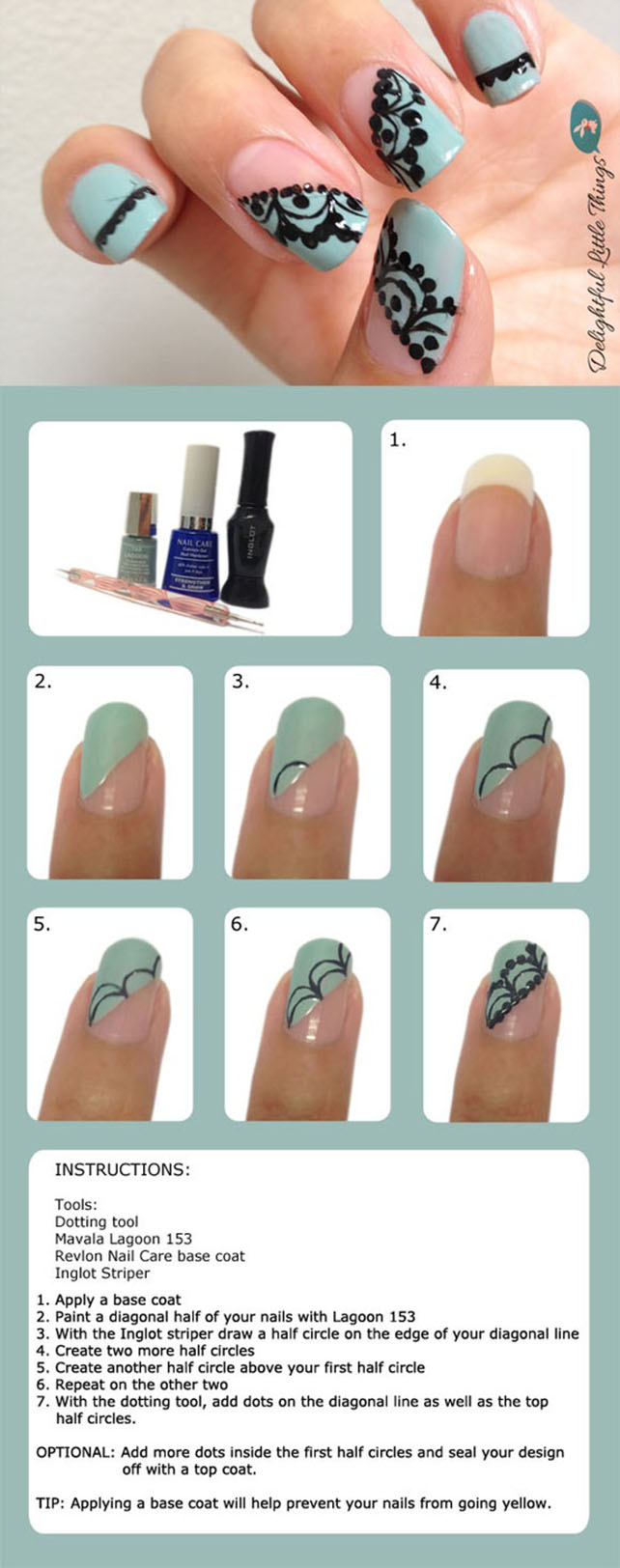 DIY Lace Nails