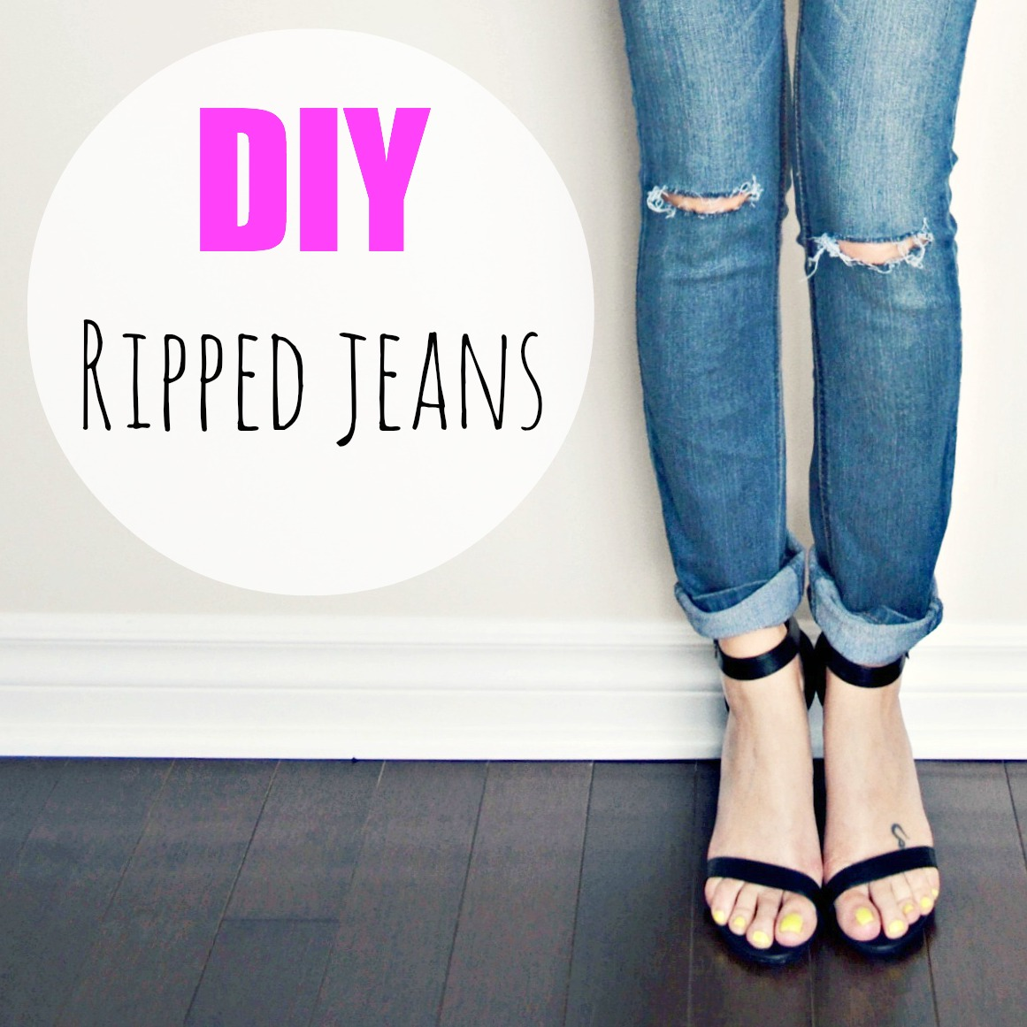 DIY Ripped Jeans | Home and Heart DIY