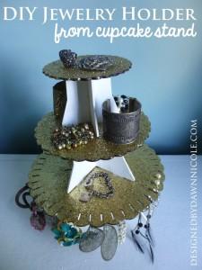 Cupcake Stand Jewelry Holder