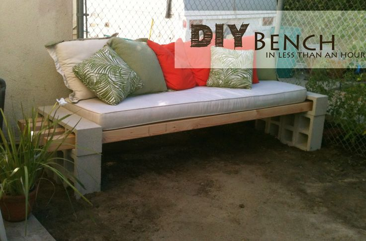 Easy inexpensive outdoor bench