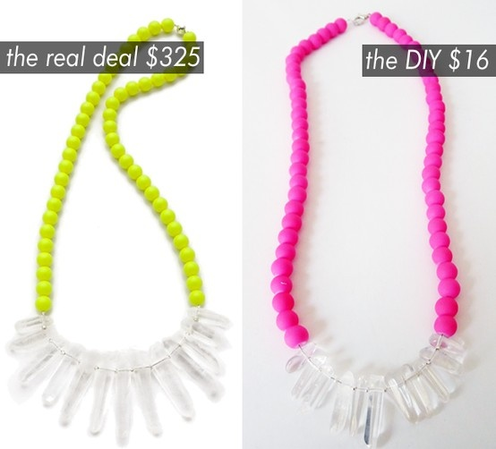 Neon Quartz Necklace