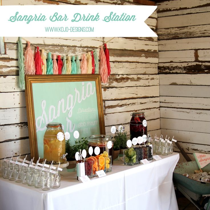 Sangria Bar Drink Station