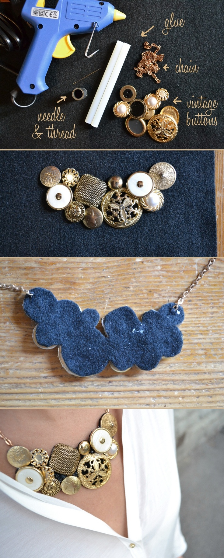 button necklaces