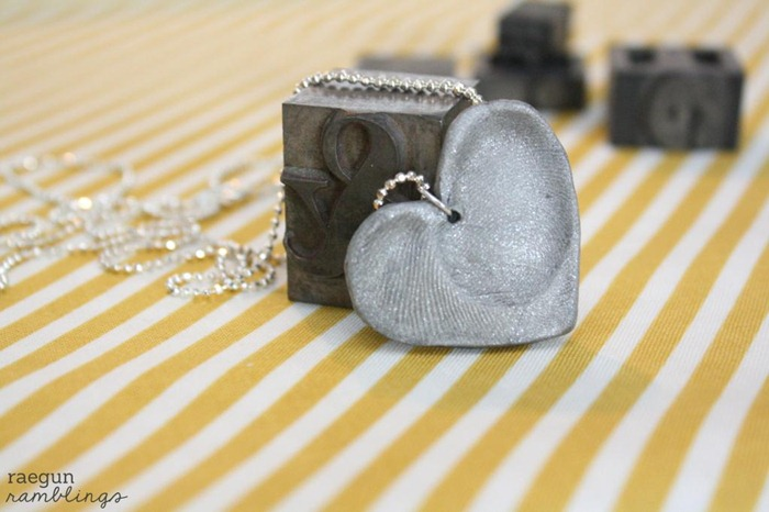 Double Fingerprint Heart Necklace Tutorial