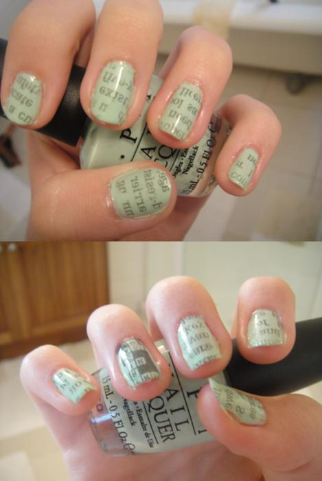 DIY Newspaper Nails