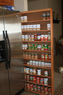 DIY Hide-a-way Pantry