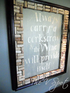 DIY Wine Cork Art