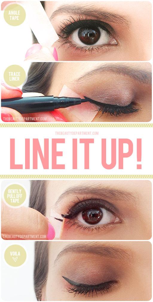 DIY Winged Eye Liner