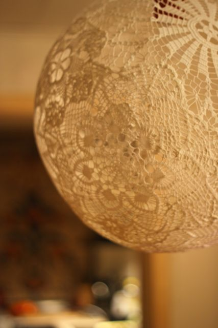 DIY Lace Doily Lamp