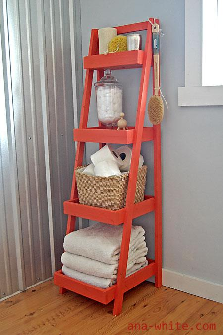 DIY Painters Ladder Shelf