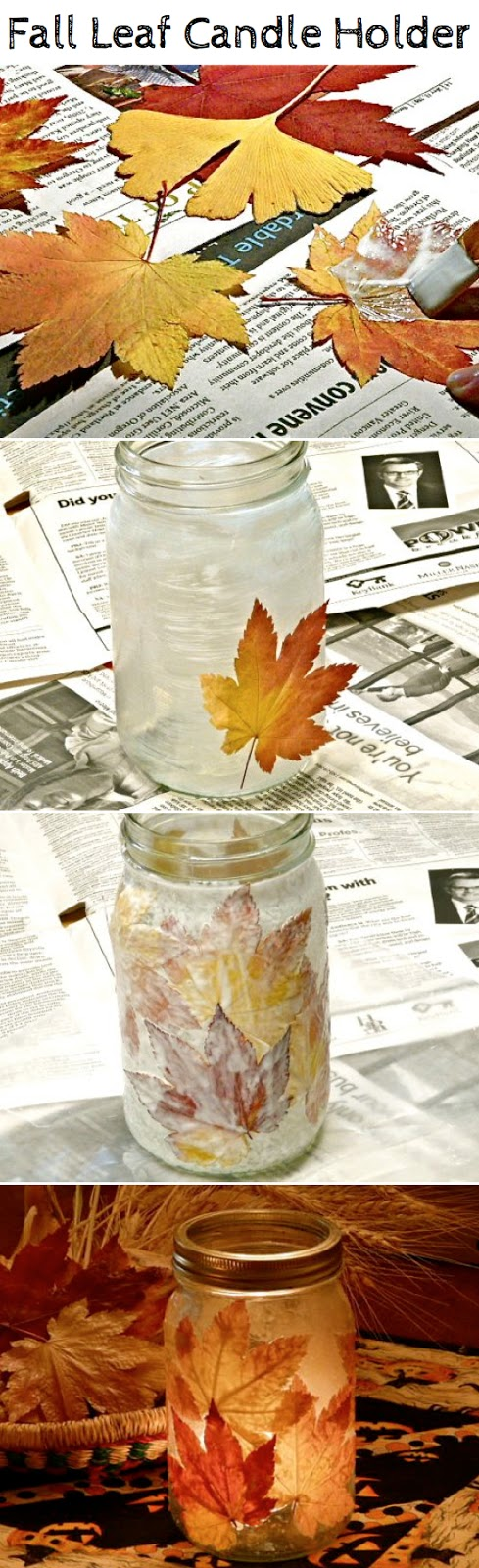 DIY Fall Leaf Mason Jars
