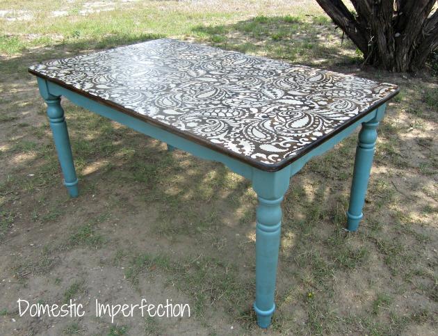 DIY Paisley Table
