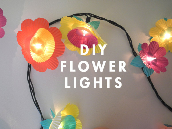 DIY Cupcake Flower lights