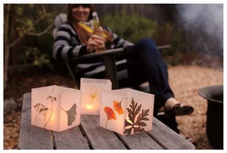 DIY Wax Paper Luminaire
