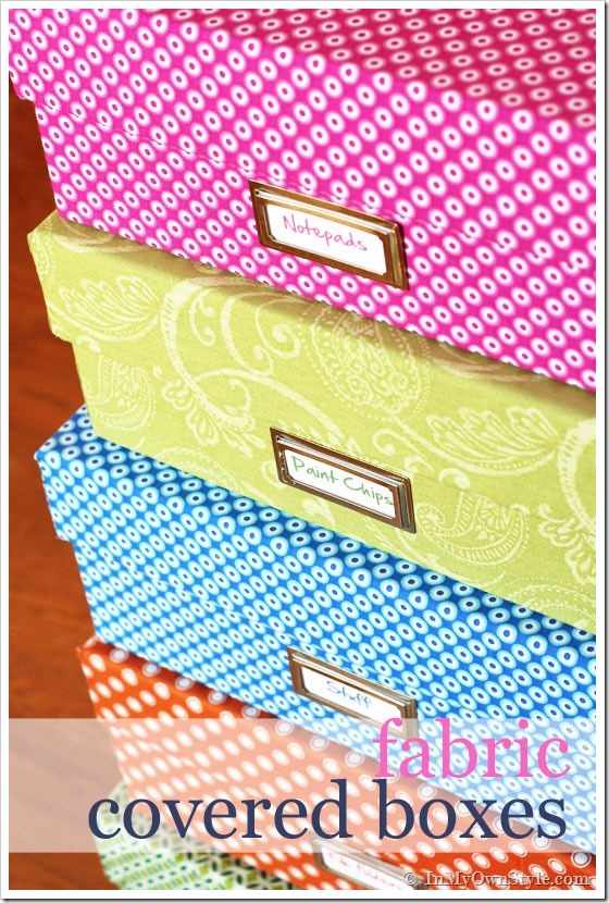 DIY Fabric Covered Gift Boxes